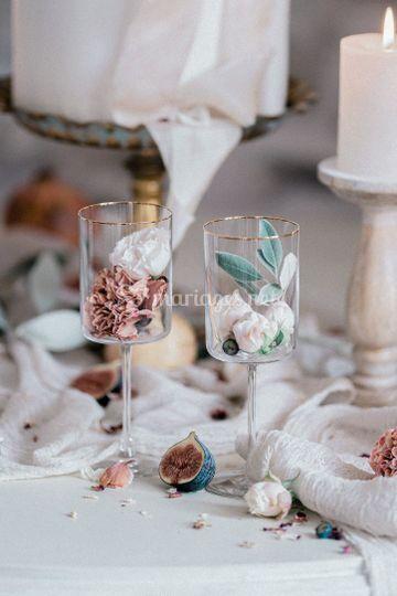 Les verres et sa déco de table