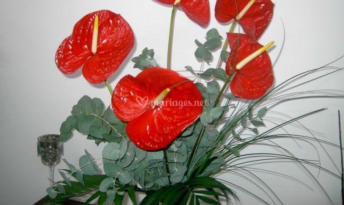 Bouquet d'anthuriums
