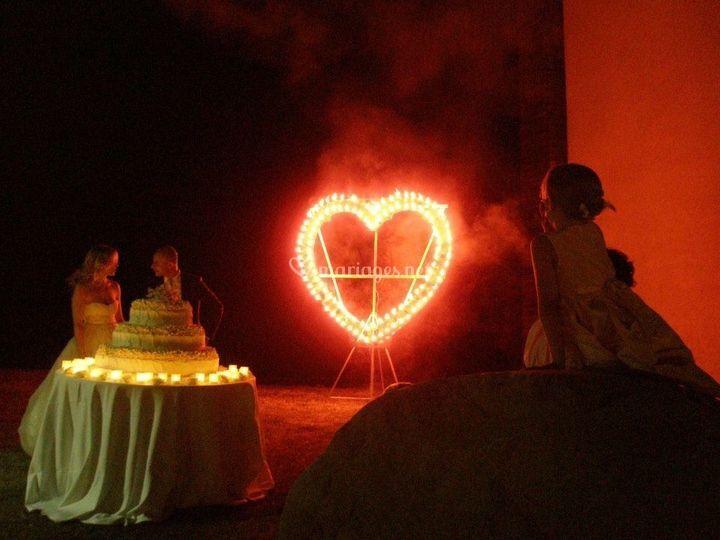 Service cœur pyrotechnique