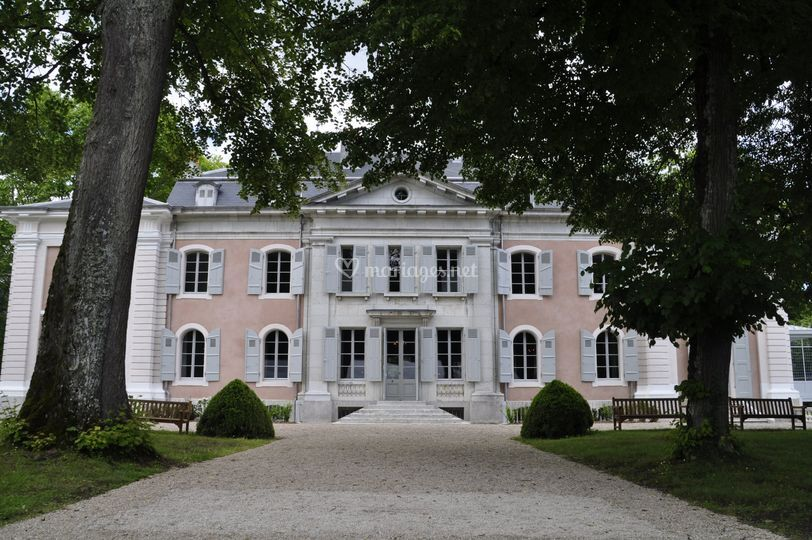 Chateau, façade sur jardins