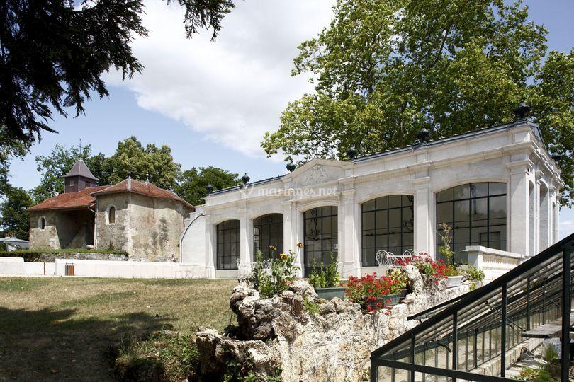 Orangerie et chapelle