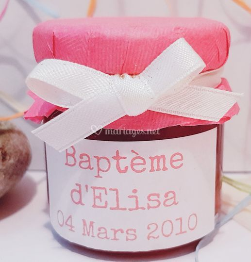 Mini pot rose et ruban