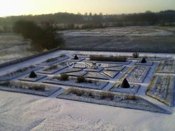 Parterre sous la neige