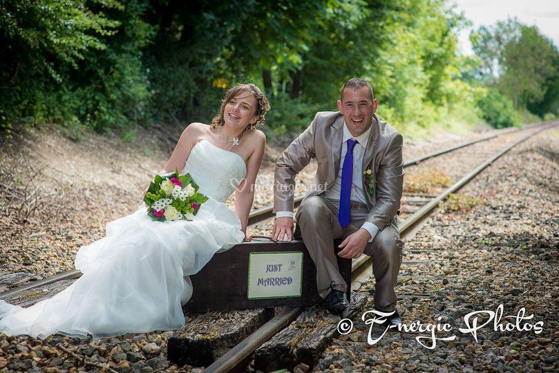 Mariés chemin de fer Aube
