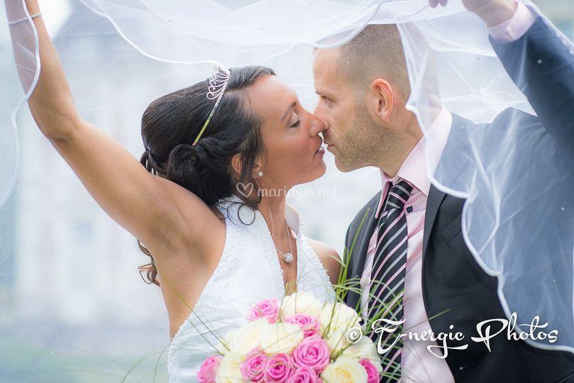 Mariés voile près Troyes