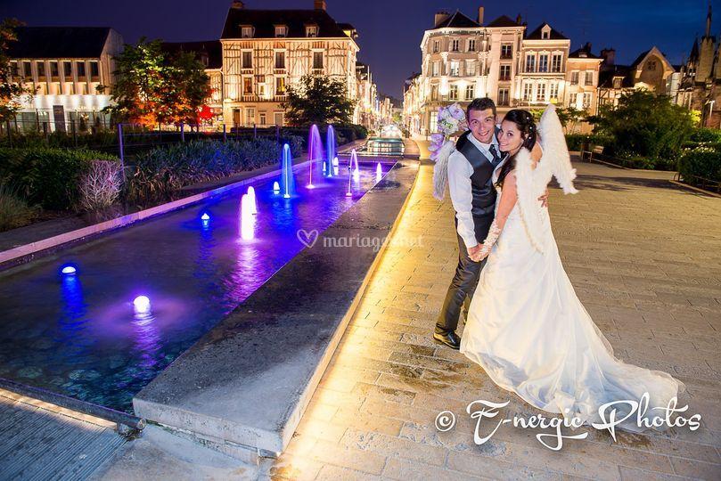 Mariés heure bleue Troyes