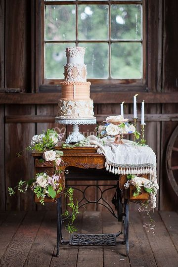 Scénographie wedding cake