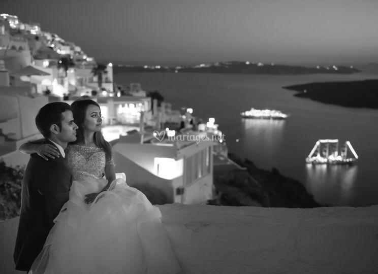 Destination wedding, Santorini