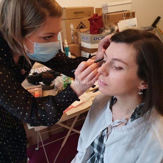 Backstage maquillage Noémie
