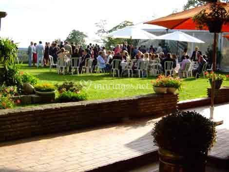 Buffet à la terrasse