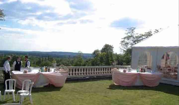Buffet mariage au extérieur