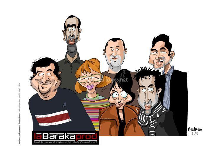 Caricature de groupe