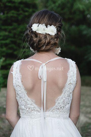 Robe raffinée de la mariée