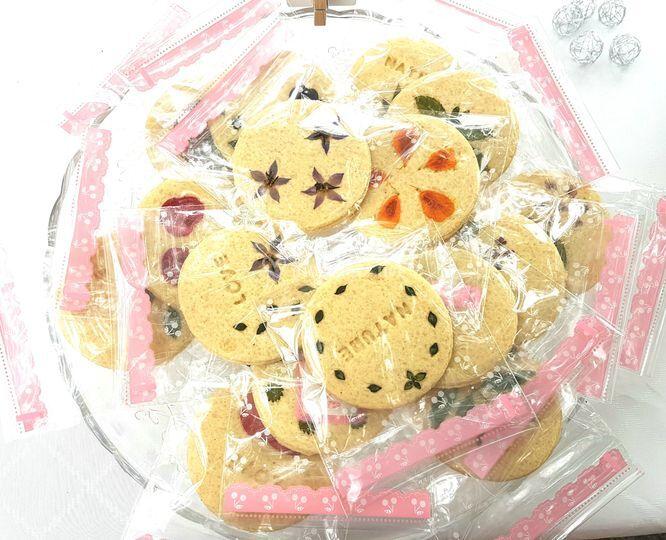 Présentation biscuits fleurs
