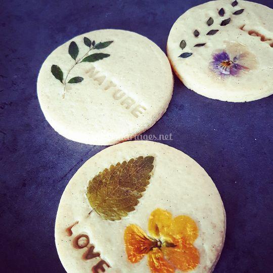 Biscuits fleur à message