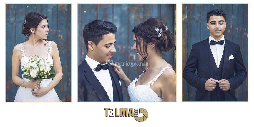 Portraits de jeunes mariés