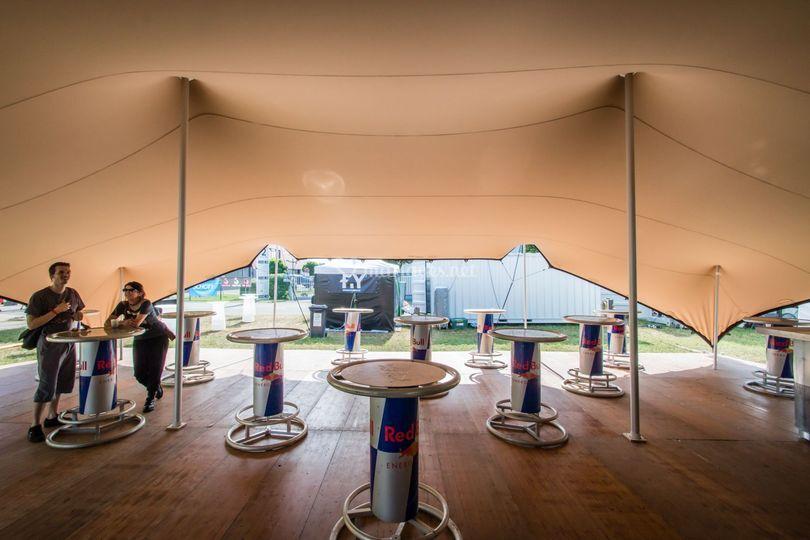 Festival Tente-Stretch sable