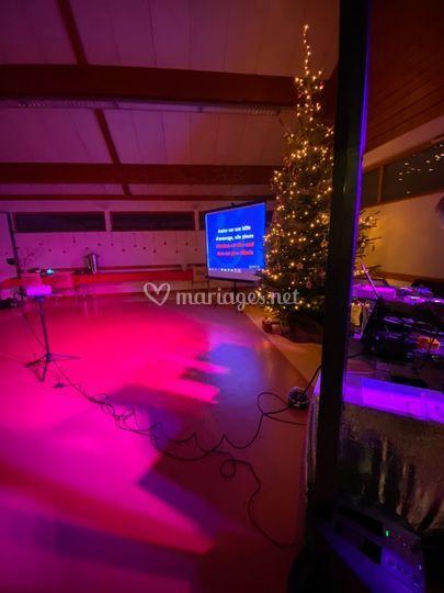 Karaoke et mise en lumière