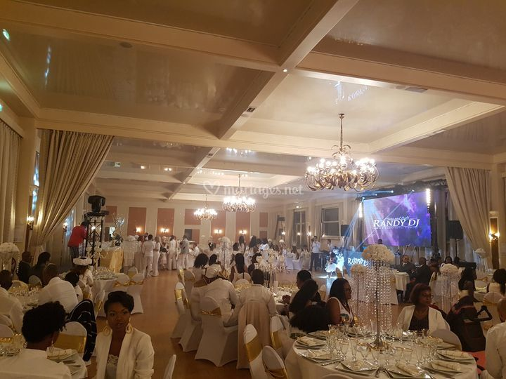 All White african wedding