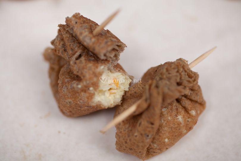 Aumonière crabe-curry