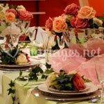 La table montée et décorée