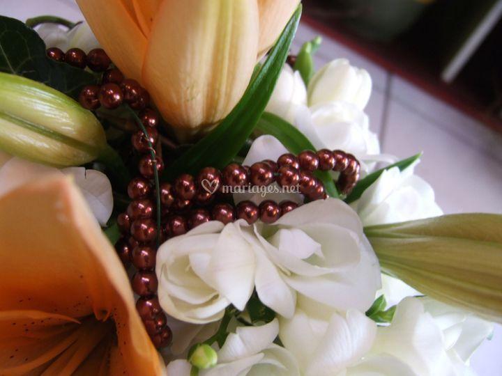Detail bouquet de mariée
