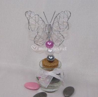 Kit jarre papillon et perles