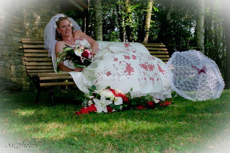 Pose mariage