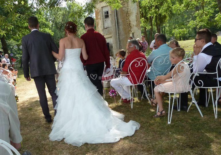 L'avancée de la mariée
