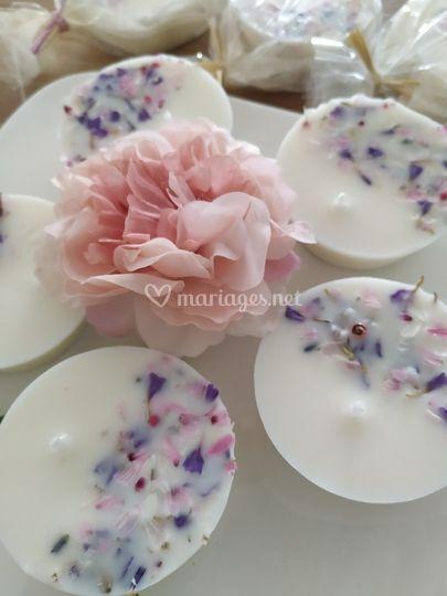 Palets fleurs sechées