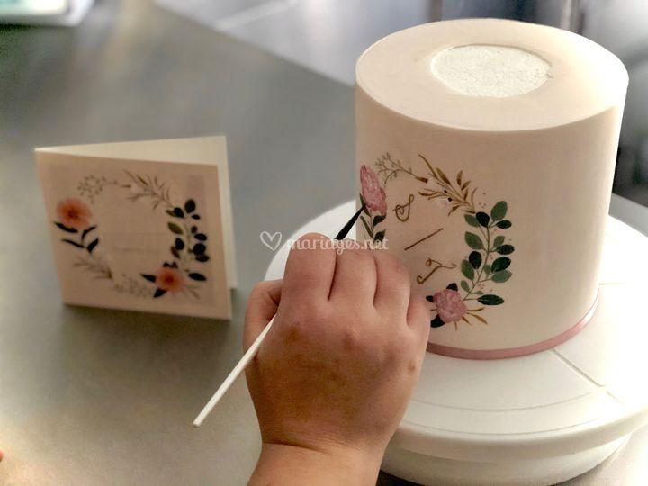 Peinture sur gâteau