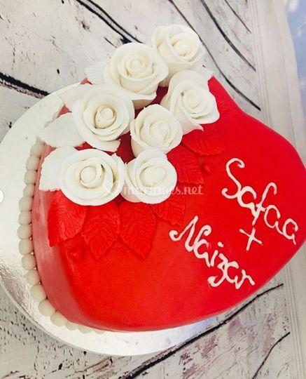 Gâteau vanille fraise