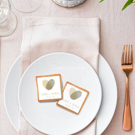 Biscuit mariage empreinte