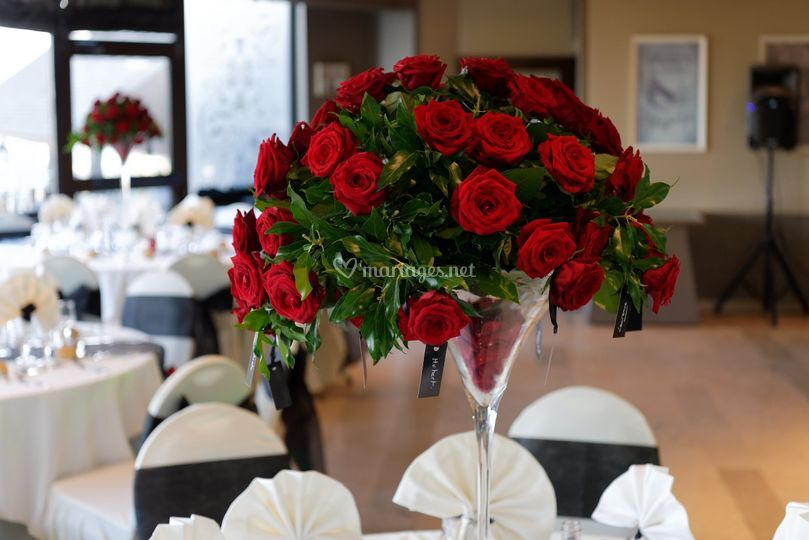 Gros plan Bouquet roses