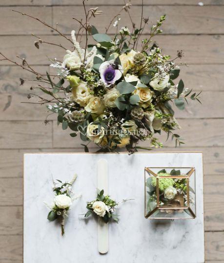 Bouquet de mariée & bracelet