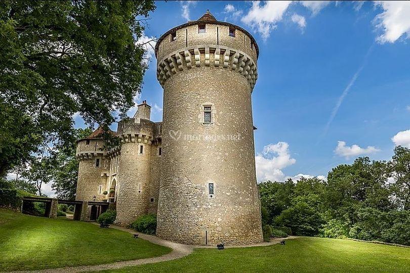 Château côté jardin