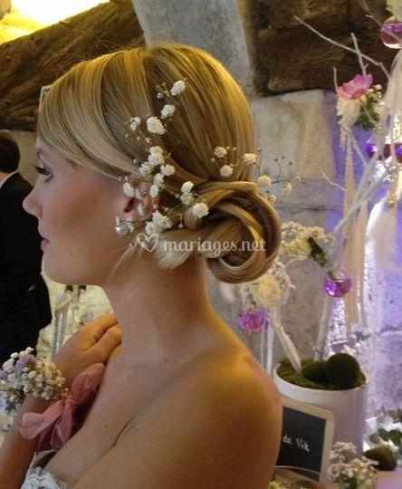 Belle coiffure pour la mariée
