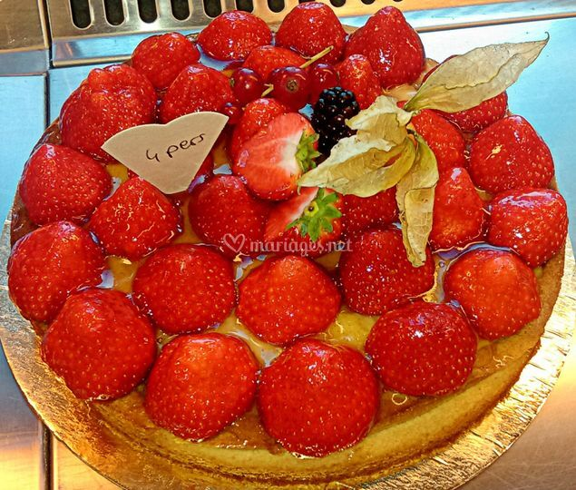 Tarte aux fraiss
