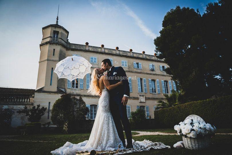 Mariés au château de Séneguier