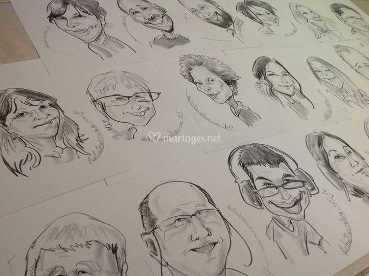 Les invités caricaturés