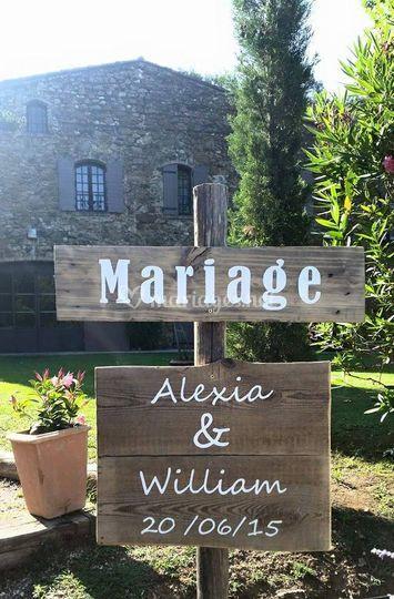Panneaux signalétiques mariage