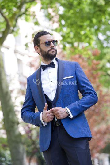 Smoking EK jaquart bleu royal