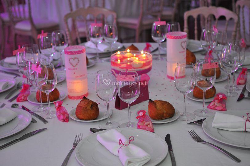 Decoration table réception