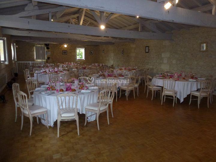 Salle réception dans château