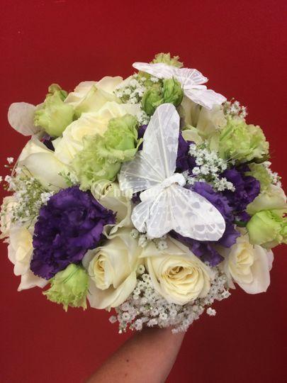 Bouquet de mariée thème papillon