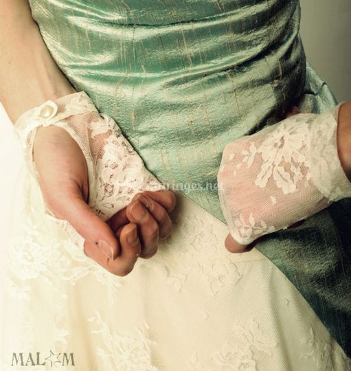 Mitaines dentelle mariée