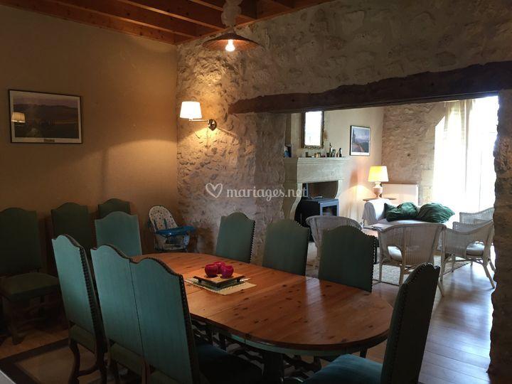 Salle à manger du cottage