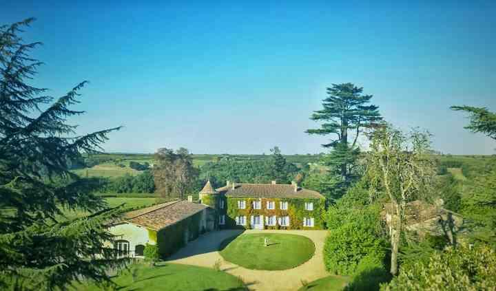 Château Lardier photo aérienne
