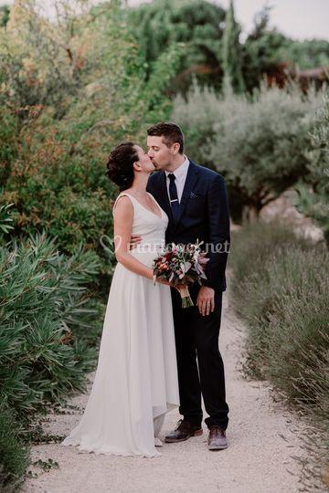 Couple mariage provence
