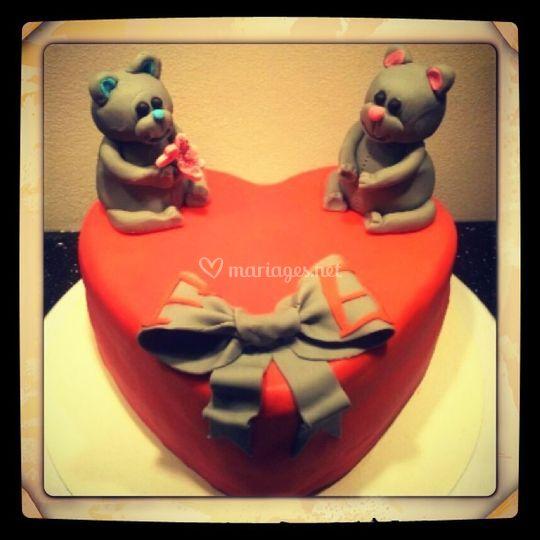 Gâteau d'amoureux